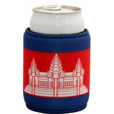 Cambodia Flag Can Cooler